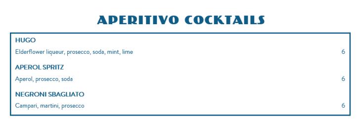 fatto a mano drinks (2)