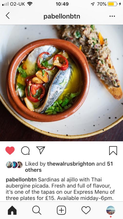 Instagram sardines photo